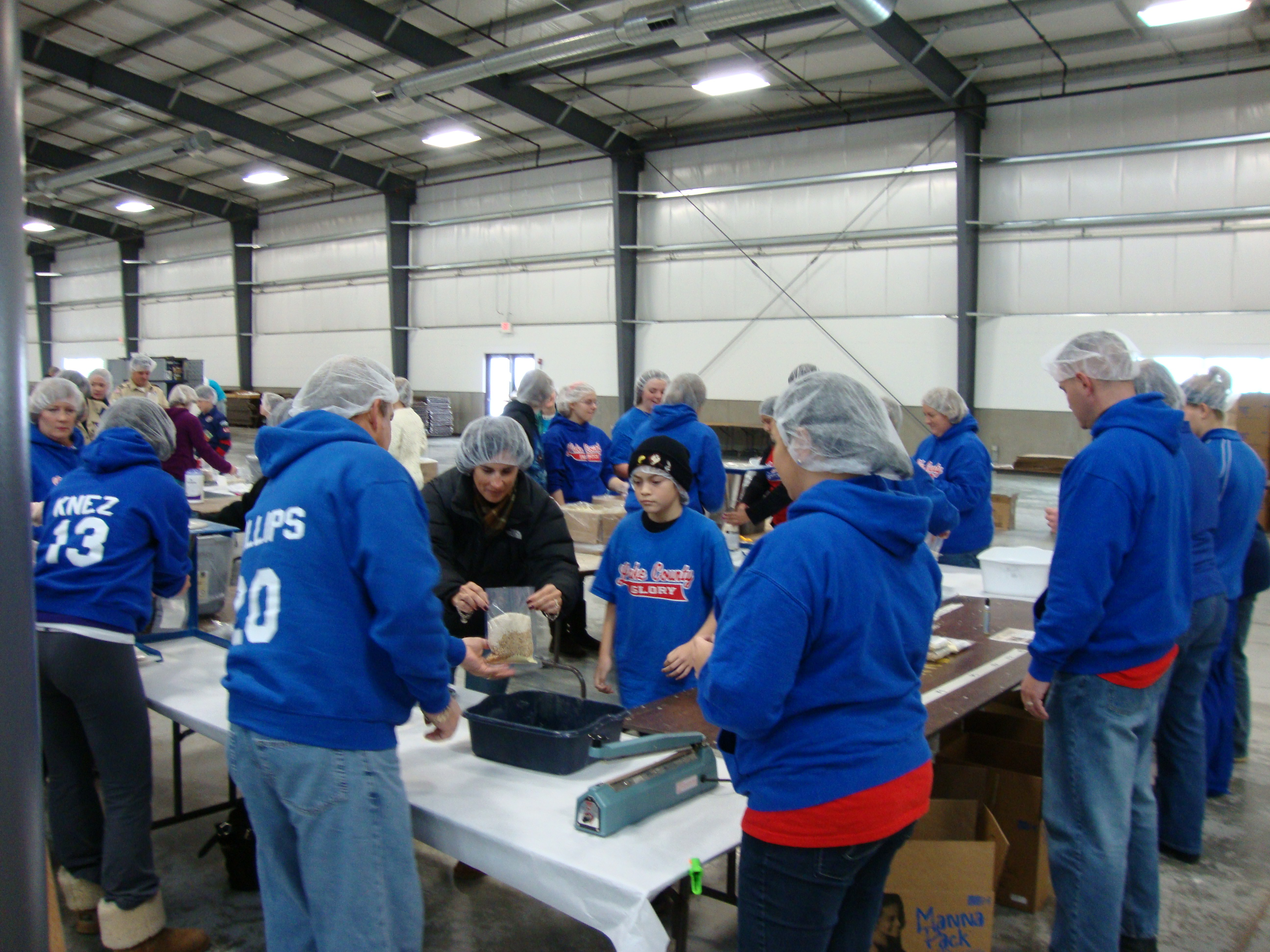 Glory at Feed My Starving Children