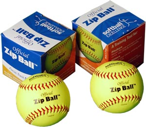 Zip Balls fastpitch softball
