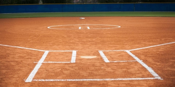 Well-groomed fastpitch softball field