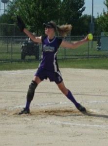 Mercer's Kirsten Stevens as a youth pitcher