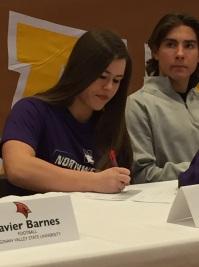 Emma Bartz signing NLI