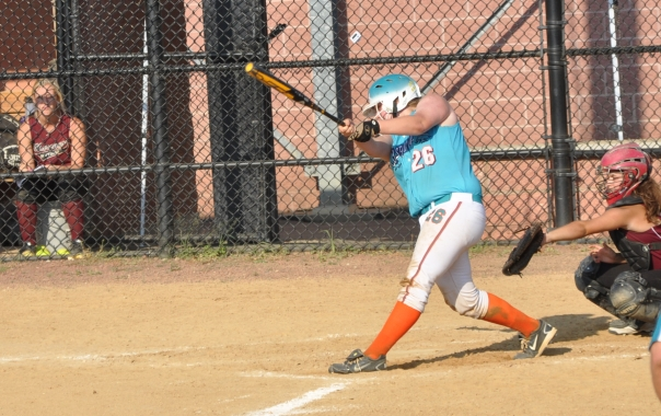 Aggressive fastpitch softball swing