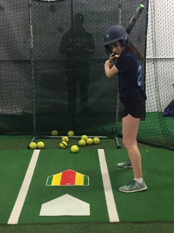 For fastpitch hitters with timing problems, try placing a second plate in front of the first one.