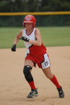 Fastpitch softball players should never run into a tag. Ever.
