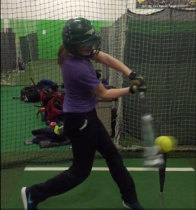 Tee hitting is for players of all ages, including accomplished hitters like Grace Bradley