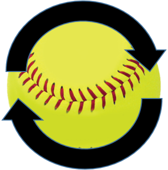 Bullet spin is not generally desirable in fastpitch softball pitching