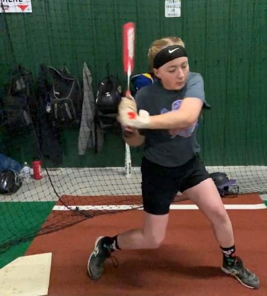 Kayleigh hitting
